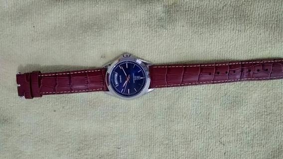 Relógio Casio Pulseira De Couro