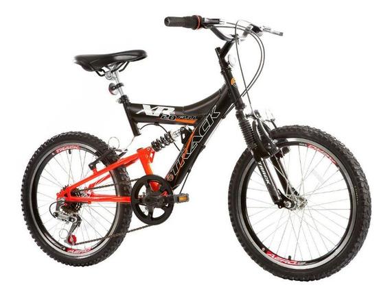 Bicicleta Track Bikes Xr20-6v-po 6 Marchas Com Suspensão