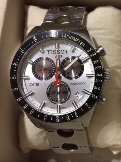 Tissot Prs516 Chronograph Acero Extensible Perforado