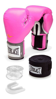 Kit Luva Everlast Training Bandagem/ Bucal