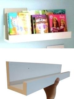 Repisa Montessori Infantil 60cm Para Cuentos Retratos Kinder