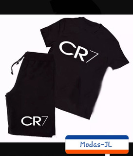 Camiseta Camisa + Bermuda Moletom Cristiano Ronaldo Cr7