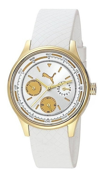 Relógio Puma Feminino Em Silicone Branco - 96158lppmdu2.