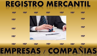 Registro Mercantil De Empresas. Documento Legal