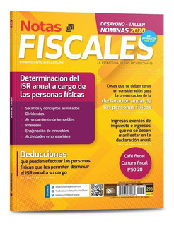 Revista Notas Fiscales 293 Abril 2020 Formato Impreso