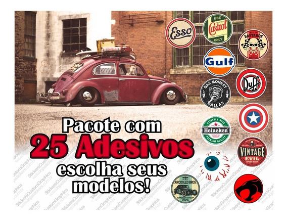 Adesivos Retro Antigos Vintage Automotivos Diversos (25 Un.)