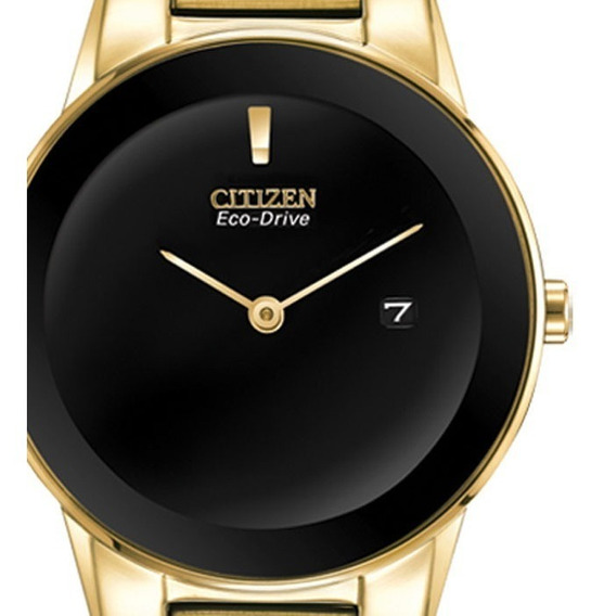 Reloj Dama Citizen Ga1052-55e Ecodrive Acero Dorado Regalo Para Mamá