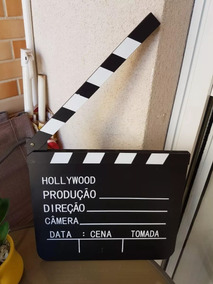 30x27cm Claquete De Cinema Scope Universal Movies Paramount