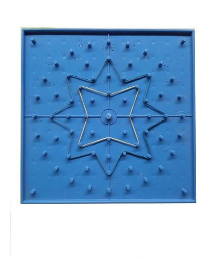 Imagen 1 de 3 de Ingeniacrea Pack 20 Pzas Geoplano Doble Cara 17x17cm 121 Pin