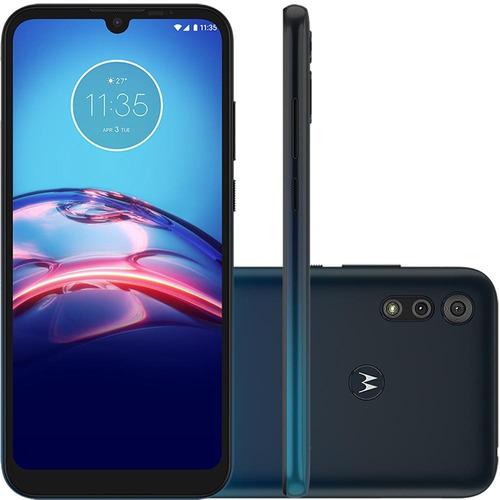 Celular Motorola Moto E6s Azul 64gb Camera Dupla 13mp + 2mp