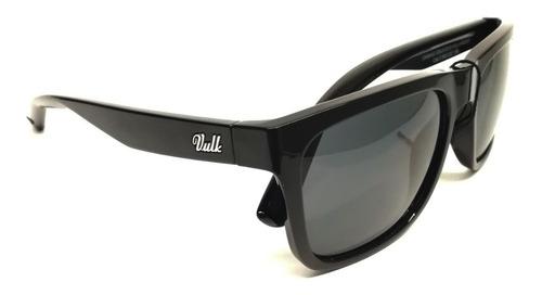 Anteojos De Sol Gafas Vulk Damag Polarizado Negro Espejado