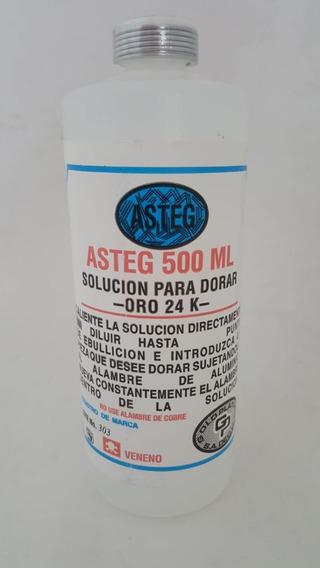 Solución Para Dorar Oro 24k Asteg 500ml