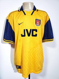 Camisa Futebol Oficial Arsenal Inglaterra 1996 Away Nike Ggg