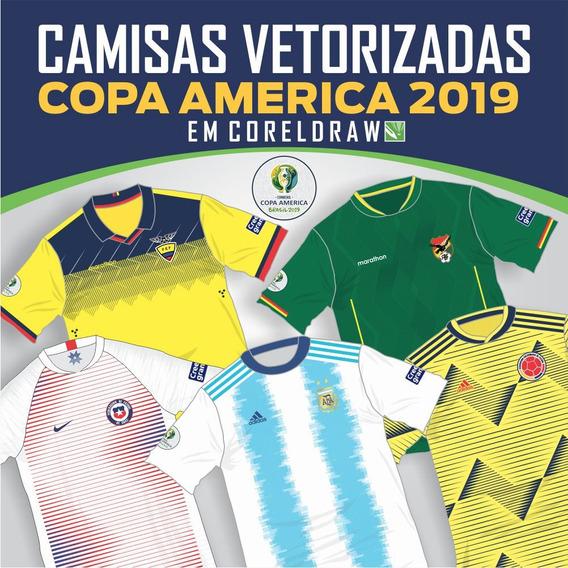 Vetores Coreldraw Camisas Copa America 2019