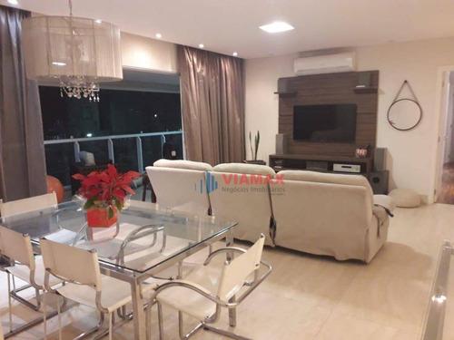 Apartamento Com 4 Dormitórios, 192 M² - Venda Por R$ 1.800.000,00 Ou Aluguel Por R$ 7.500,00/mês - Jardim Aquarius - São José Dos Campos/sp - Ap2851