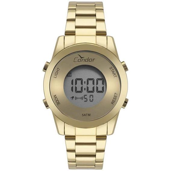 Relógio Condor Digital Dourado Espelhado Cobj3279aa/4d