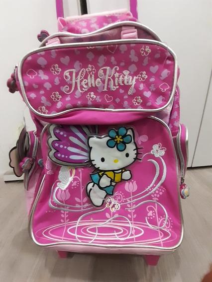 Mochila Infantil Com Roda Hello Kitty
