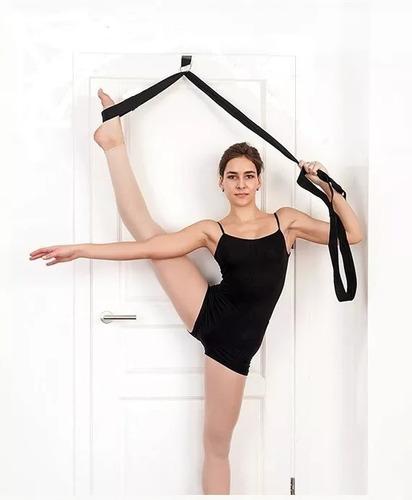 Imagem 1 de 2 de Fita Para Alongamento Yoga Dança Ballet Com Clip De Porta