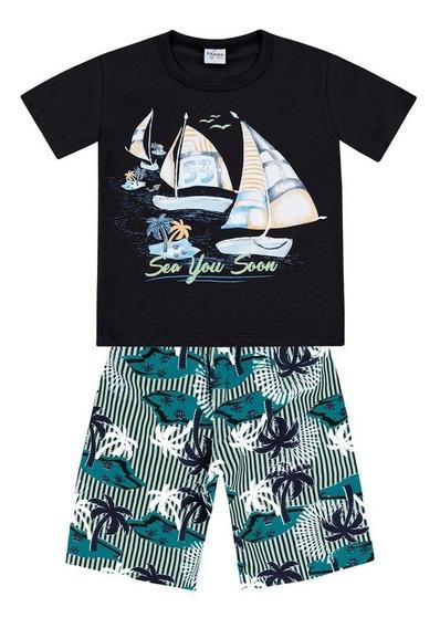 Conjunto Camiseta E Bermuda Windsurf