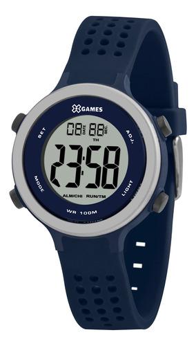 Relógio Infantil Masculino Azul X-games Digital Silicone+nf