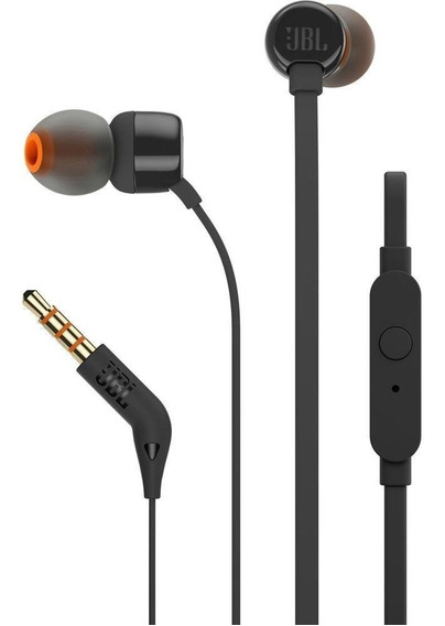2 Fones Jbl T110 Preto / Branco In Ear Microfone By Harman
