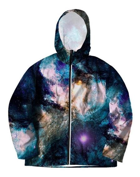 Corta Vento P/ Frio Galáxia Tumblr Galaxy Sintético Cosmos