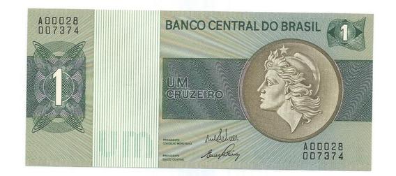 Brasil - C-129, 1 Cruzeiro, 1970, Série 00028ª, Sob - Rara