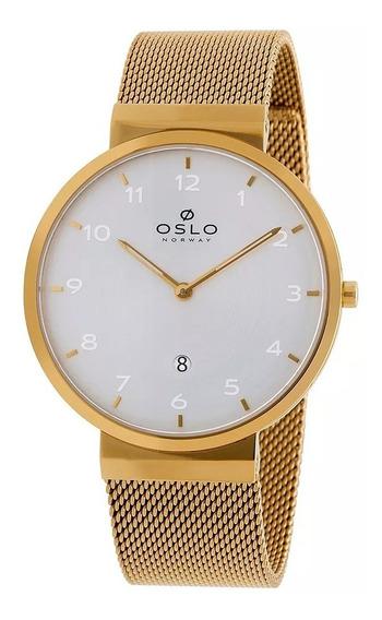 Relógio Oslo Slim Omgsss9u0006 Dourado