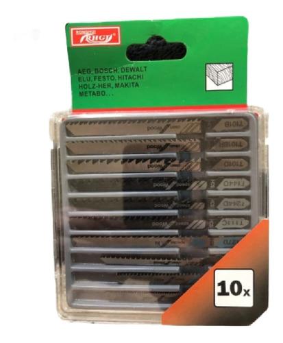 Imagen 1 de 8 de Pack De 10 Hojas Sierra Caladora Tipo T Corte Madera Y Metal