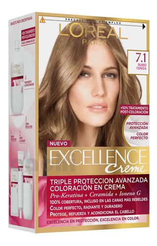 Tinta Loreal Excellence Creme Rubio Cenizo 7.1