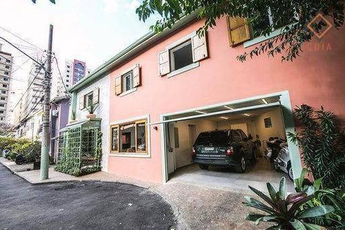 Casa De Vila Itaim Bibi, 300 M², 4 Suítes Todas Com Closet, Master Banheiro Sr E Srª Com Hidro, 2 Vagas, R$ 3.900.000,00 - Ca3049