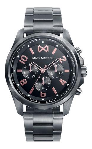 Reloj Mark Maddox Hombre De Lujo En Acero