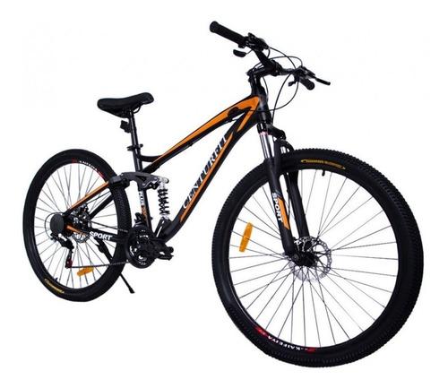 Imagen 1 de 2 de Mountain bike Centurfit MKZ-BICIALUMINIO R29 21v color naranja con pie de apoyo