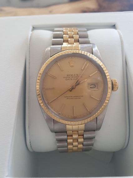 Rolex Original Oro Y Acero Oyster Perpetual Date Just Hombre
