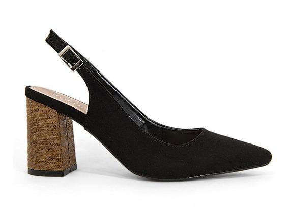 Zapatos Zapatillas Dama Casuales Tacon Grueso Madera Moda