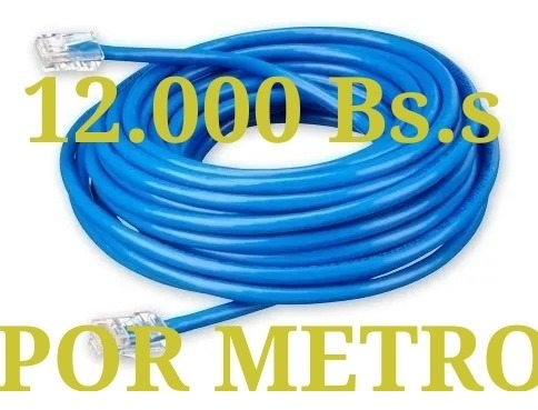 Cable Utp Internet Por Metro Cat5e Cctv Redes
