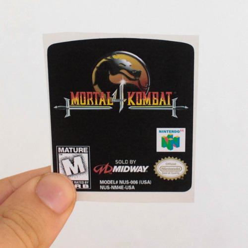Label Frontal Mortal Kombat 4 Nintendo 64