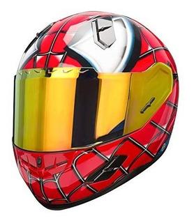 Nenki Nk-856 Casco De Motocicleta Spiderman De Cara Completa