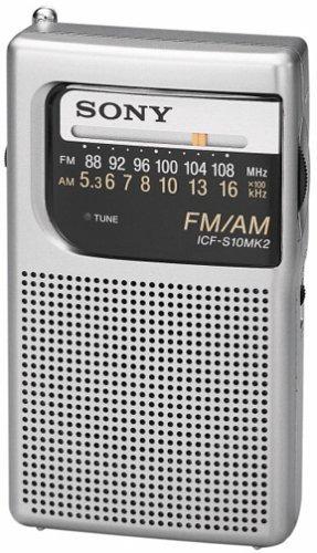 Radio De Bolsillo Am /fm Sony Icf-s10mk2, Plateada