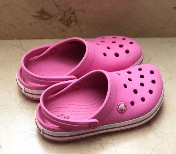 Crocs Originales Nena Pink N 29 Excelente Estado
