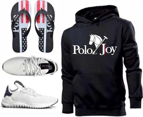 Tenis Masculino Moletom Polo Joy Promoção + Chinelo!!!