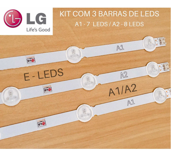 Kit Barras De Led Lg 32ln5400 32ln5700 32la613b, Novas!