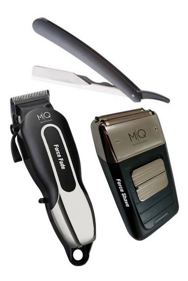 Kit Máquina De Corte Cordless Shave + Fade Mq Profissional