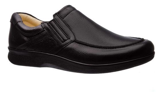 Sapato Masculino Esporão 3051 Em Couro Floater Preto Doctor
