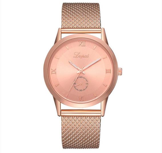 Relógio Rose Gold Lvpai Feminino De Luxo A Pronta Entrega