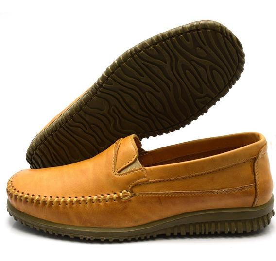 Sapato Masculino Mocassim Sider Em Couro Legítimo Whisk