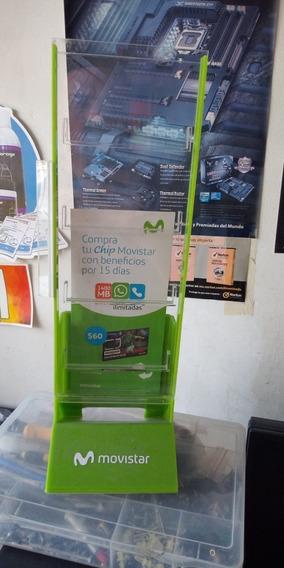 Exhibidor Porta Chip Movistar