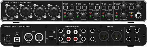 Behringer Umc404hd Interface De Audio Usb 4x4
