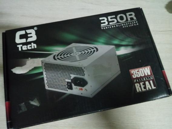 Fonte De 350w Real C3tech - Nova!