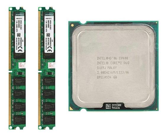Kit 4gb Memoria Ddr2 (2x2) 667mhz + Core 2 Duo E8400 Lga775